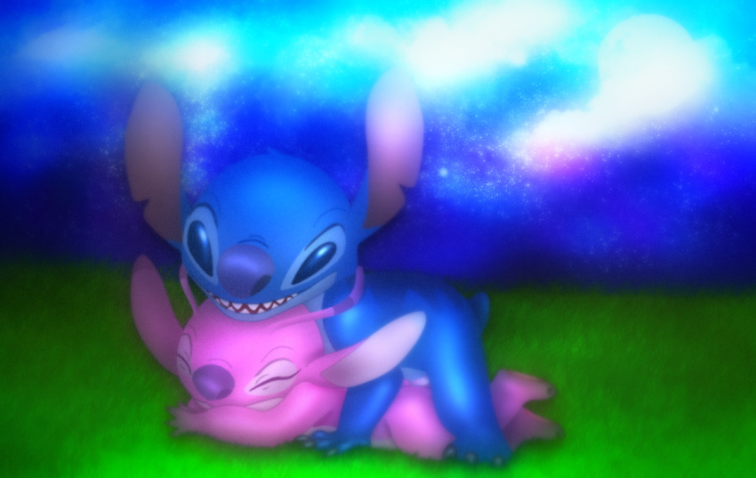 lilo angel from stitch and Fnaf foxy and mangle porn