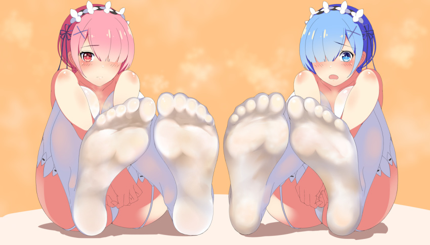 and re:zero ram rem Monster musume everyday life at the pool